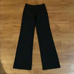 Black LULULEMON boot cut Yoga Pants Size 4 reg